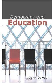 Cover of: Democracy and Education by John Dewey