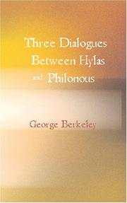 Three Dialogues Between Hylas and Philonous PDF
