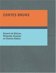 Contes bruns by Honoré de Balzac
