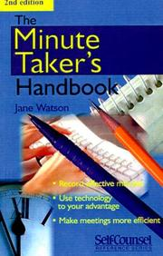 The Minute Taker's Handbook (Self-Counsel Reference Series) PDF