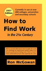 How to find work in the 21st century by Ron McGowan