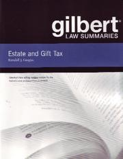 Estate and Gift Tax (Gilbert Law Summaries) PDF