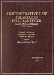 Administrative law, the American public law system PDF