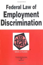 Federal law of employment discrimination in a nutshell PDF
