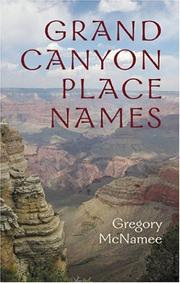 Grand Canyon place names by Gregory McNamee
