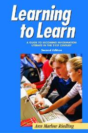Learning to learn by Ann Marlow Riedling