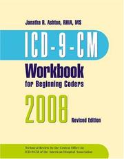 ICD-9-CM 2008 Workbook for Beginning Coders, With Answer Key by Janatha R. Ashton