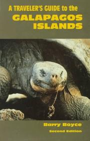 A traveler's guide to the Galapagos Islands by Barry Boyce