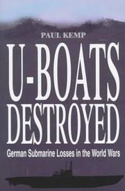 U-boats destroyed by Paul Kemp
