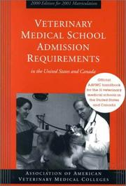 Veterinary Medical School Admission Requirements in the United States and Canada PDF