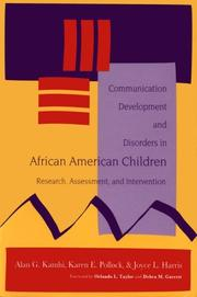 Communication development and disorders in African American children