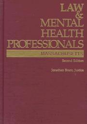 Law &amp; mental health professionals by Jonathan Brant