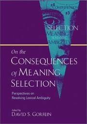 On the Consequences of Meaning Selection PDF