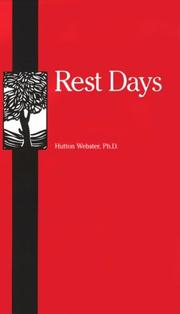 Rest days by Webster, Hutton