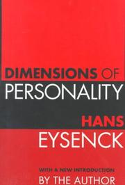 Dimensions of personality by Eysenck, H. J.