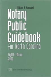 Notary public guidebook for North Carolina PDF