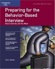 Cover of: Crisp: Preparing for the Behavior-Based Interview by Terry L. Fitzwater