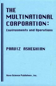 The Multinational Corporation by Parviz Asheghian