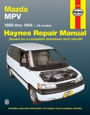 Mazda MPV automotive repair manual by John Harold Haynes