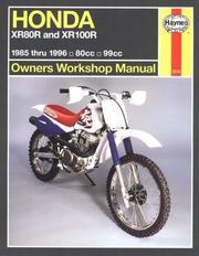 Honda Xr80/100R Owners Workshop Manual: Models Covered PDF