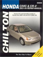 Chilton&#39;s Honda Civic &amp; CR-V 2001-2004 repair manual by John Harold Haynes