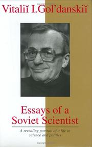 Essays of a Soviet scientist PDF