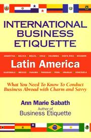 International business etiquette by Ann Marie Sabath