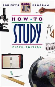 How to study by Ronald W. Fry