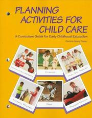 Planning activities for child care PDF