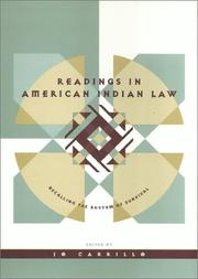Readings in American Indian Law PDF
