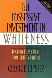 The possessive investment in whiteness PDF