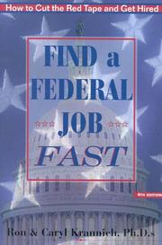 Find a federal job fast! by Ronald L. Krannich