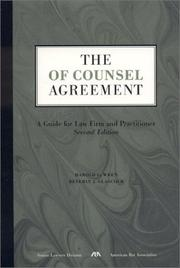 The of counsel agreement by Harold G. Wren