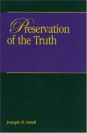 Preservation of the truth PDF