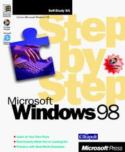 Cover of: Microsoft Windows 98 step by step by