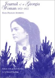 Journal of a Georgia woman, 1870-1872 by Eliza Frances Andrews