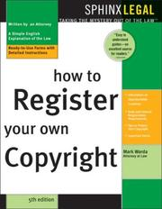 Cover of: How to register your own copyright by Mark Warda