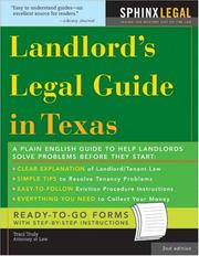 Landlord's Legal Guide in Texas, 2E (Legal Survival Guides) PDF