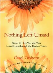 Nothing Left Unsaid PDF