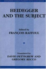 Heidegger and the subject PDF