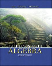Beginning algebra by Margaret L. Lial