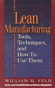 Lean Manufacturing by William M Feld