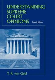 Understanding Supreme Court opinions by Tyll Van Geel