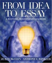 From idea to essay by Jo Ray McCuen