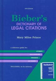 Bieber's dictionary of legal citations by Mary Miles Prince