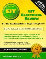 EIT electrical review [for the fundamentals of engineering exam] PDF