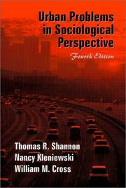 Urban problems in sociological perspective PDF