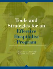 Tools and Strategies for an Effective Hospitalist Program PDF