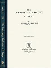 The Cambridge Platonists by Frederick J. Powicke
