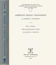 American Indian tomahawks by Harold Leslie Peterson